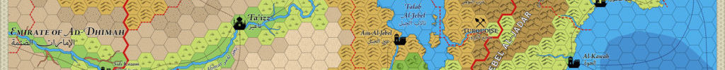 Caliphate of Fuscat Hex Map